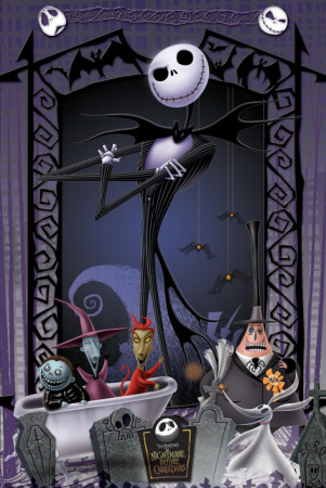 Nightmare Before Xmas Characters Poster