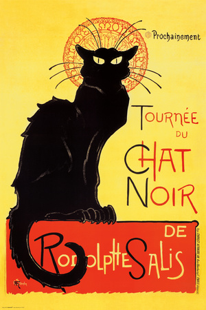 Chat Noir Black Cat Antiquity Ad Poster