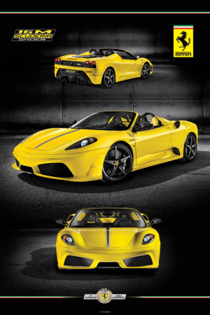 Ferrari - 16M Scuderia Spider Poster