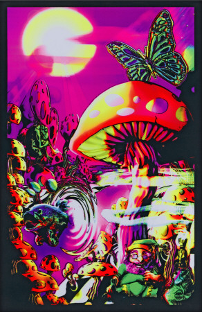 Magic Valley psychedelic trippy blacklight poster