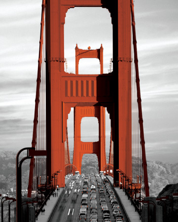 Golden Gate Bridge - San Francisco Mini Poster