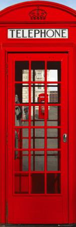 Londýn - telefonní budka Plakát na dveře
