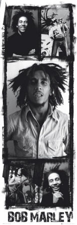 Bob Marley - Photo Collage Affiches format porte