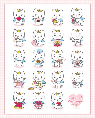 Angel Cat Sugar - multi Poster