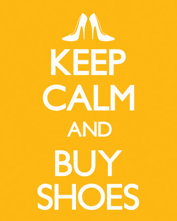 Keep Calm and Buy Shoes Póster de tamaño reducido