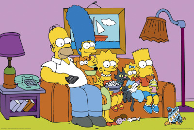 Simpsons - Couch Póster