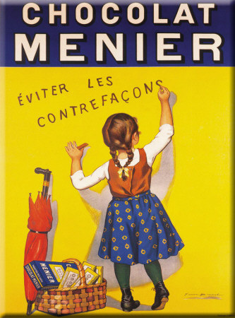 Chocolat Menier Tin Sign
