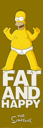 Simpsons - Fat And Happy Door Poster