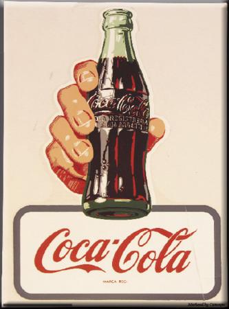 Coca cola cartel de chapa en - Chapa coca cola pared ...