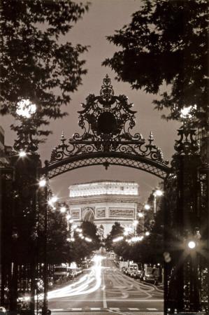 Vítězný oblouk – Arc de Triomphe, Paříž, Francie Plakát