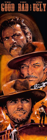 The Good, The Bad And The Ugly 2 Door Poster