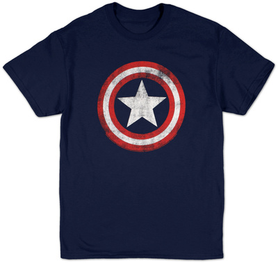 Captain America - Distressed Shield Shirts