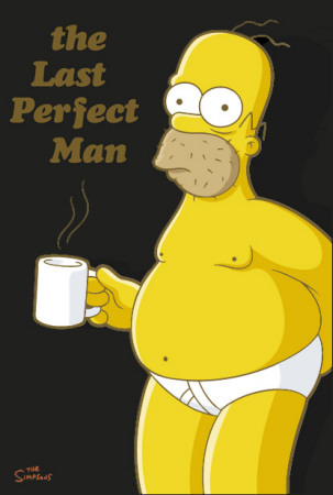 Simpsons - Homer Coffee Break Affiche