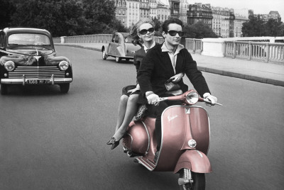 Paris - Scooter Affiche