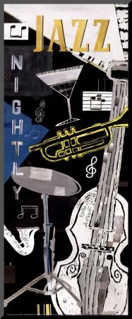 Jazz Nightly Kunst op hout van Katherine & Elizabeth Pope