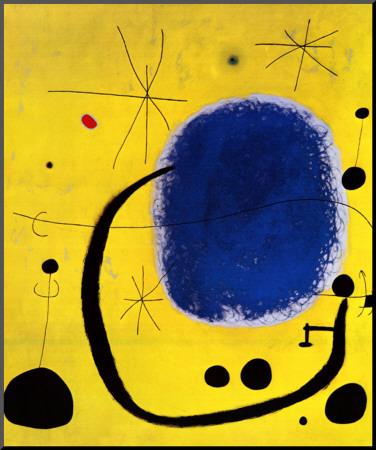 L'Oro dell' Azzurro Mounted Print by Joan Miró