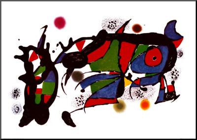 Obra de Joan Miro Mounted Print by Joan Miró
