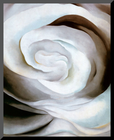 Abstraction White Rose, 1927 Mounted Print by Georgia O'Keeffe