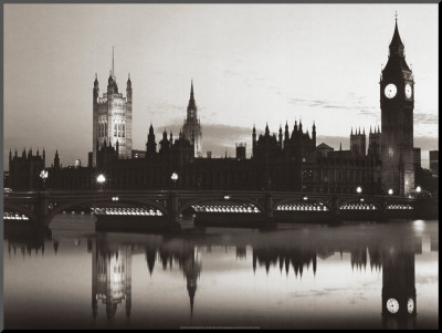 Big Ben and the Houses of Parliament Mounted Print by Pawel Libra