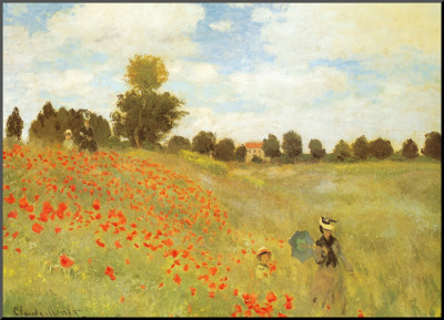 Field of Poppies, c.1886 Mounted Print by Claude Monet