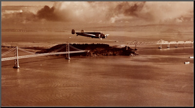 Amelia Earhart in Flight, Oakland to Honolulu, March 17, 1937 Mounted Print by Clyde Sunderland