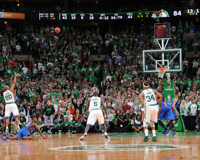 New York Knicks v Boston Celtics - Game One, Boston, MA - April 17: Ray Allen Photo