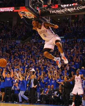 Denver Nuggets v Oklahoma City Thunder - Game One, Oklahoma City, OK - April 17: Russell Westbrook Photo