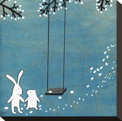 Follow Your Heart- Let's Swing Stretched Canvas Print