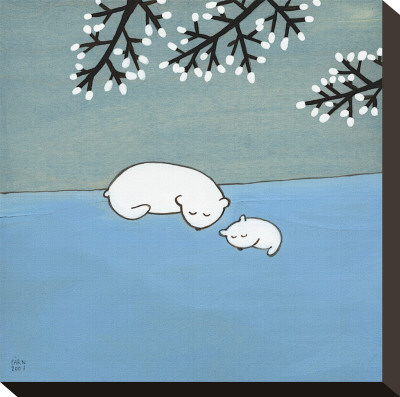 Follow Your Heart, Napping Under Marshmallow Tree Reproduction transférée sur toile