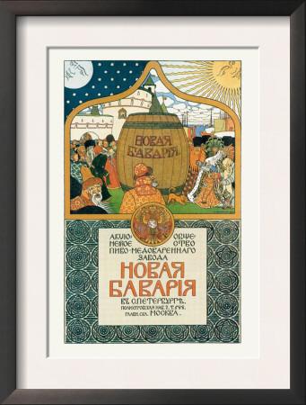 New Bavaria Mead and Beer Prints by Ivan Bilibin