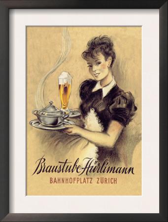 Braustube Hurliman Bahnhofplatz Print by Hugo Laubi