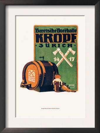 Bayristhe Bierhalle Kroph Prints