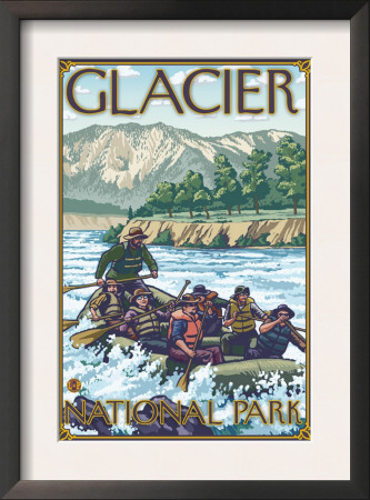 White Water Rafting, Glacier National Park, Montana Print