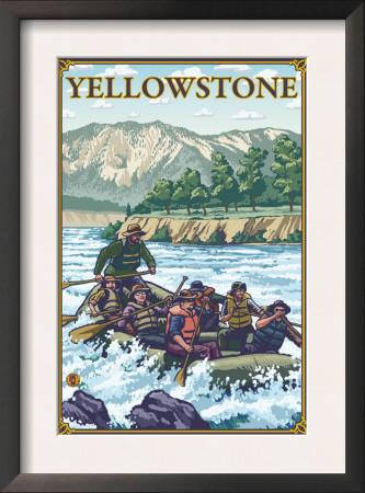 White Water Rafting, Yellowstone National Park Posters
