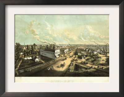 Oshkosh, Wisconsin - Panoramic Map Prints