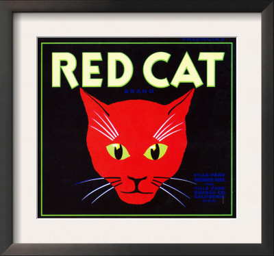 Villa Park, California, Red Cat Brand Citrus Label Prints