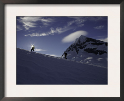Mountaineering on Mt. Aspiring, New Zealand Posters by David D'angelo