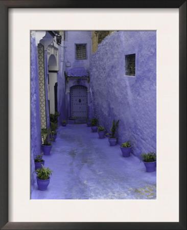 Blue Walkway, Morocco Posters by Pietro Simonetti