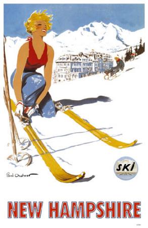 New Hampshire Ski Poster Masterprint