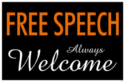 Free Speech Always Welcome Masterprint