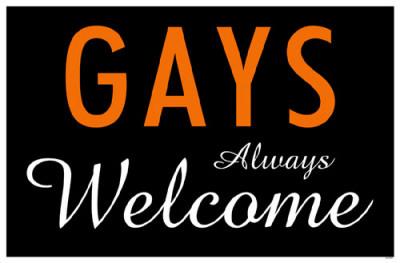 Gays Always Welcome Masterprint