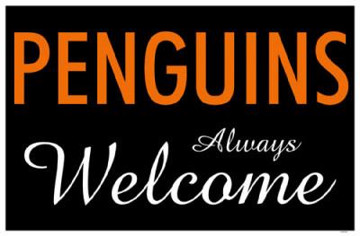 Penguins Always Welcome Masterprint