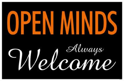 Open Minds Always Welcome Masterprint