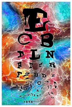 Psychedelic Eye Chart Masterprint