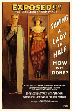 Sawing a Lady in Half Masterprint