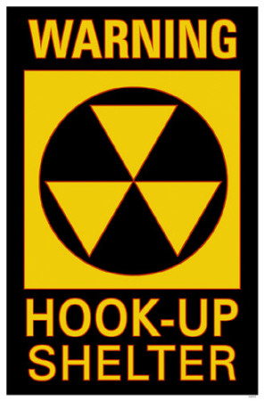 Warning Hook-Up Shelter Masterprint