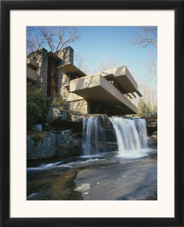 Fallingwater, State Route 381, Pennsylvania Print by Frank Lloyd Wright