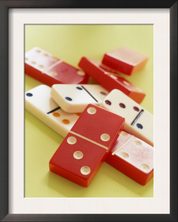 Red and White Dominoes Prints