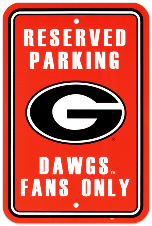 NCAA University of Georgia Parking Sign Wall Sign