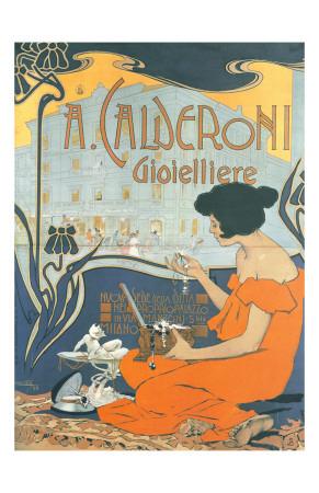 Calderoni Gioielliere 1898 Poster by Adolfo Hohenstein